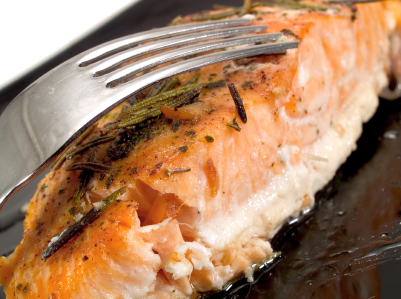 BAKED SALMON FILLETS WITH GOAT CHEESE AND CILANTRO picture